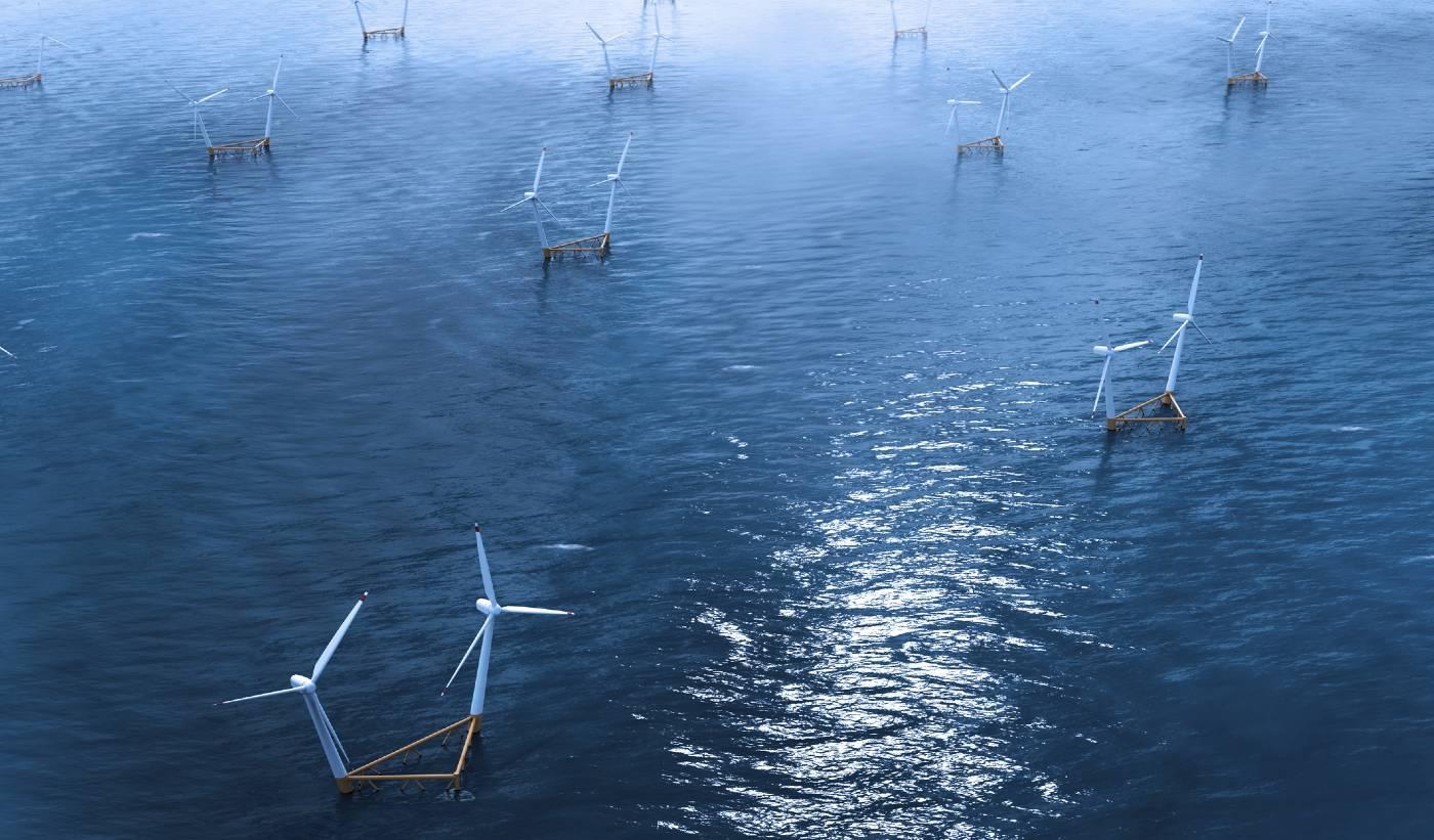 Flytande vindkraft till havs från Hexicon