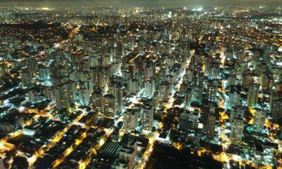 En stad som förbrukar elektricitet