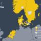 Karta över var Everfuel har vätgas-verksamhet