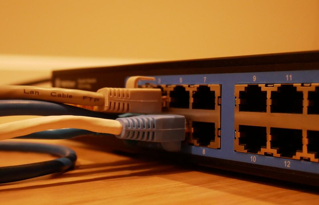 Kablar inkopplade i en router